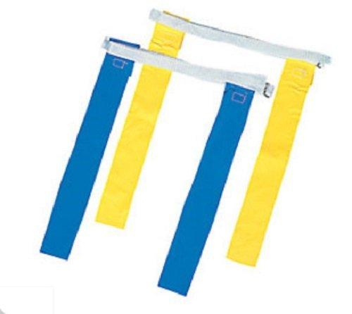 (12 Sets Nylon Flag Football Flags Yellow Blue Adjustable Belts)