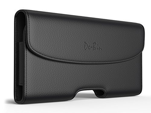 iPhone 6s 6 S Holster, Debin Classic Apple iPhone 6 6s 6 S Belt Clip Case with Loops Leather Belt Pouch Holster Cover (XL Size Fits iPhone 6s Otterbox / Lifeproof / Hybrid Case On)