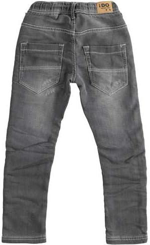 IDO Pantalone Denim Morbida Maglia Effetto Jeans Color Grigio sfumato
