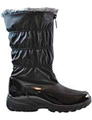 Totes Womens Carmela Ruched Snow Boot, Available In Wide Width and Wide Calf