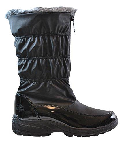 (totes Women's Carmela Ruched Snow Boot, Regular Fit, Black, 11)
