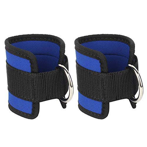 Alomejor Ankle Straps Cuffs Foot Protection Wraps with D-Ring for Cable Machines Resistance Bands Exercise Weights Gym…