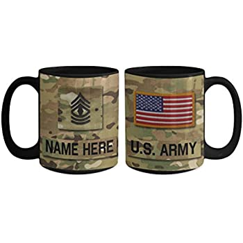 us army first sergeant 1sg e8 mug personalized customize with name text rank. Black Bedroom Furniture Sets. Home Design Ideas