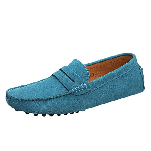 JJLIKER Men's Penny Loafers Moccasin Non-Slip Driving Boat Shoes Comfort Pure Color Fashion Casual Slip On Flats Shoes