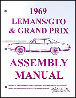 1969 Pontiac Lemans Gto Tempest Grand Prix Judge Assembly Manual GM. Turn On 1click Ordering For This Browser. Wiring. Judge Gto Wiring Diagram At Scoala.co