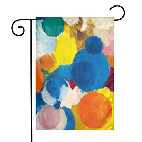 ZKIRESD Ernst Wilhelm NAY Irisches Gedicht Garden Flag Seasonal Outdoor Flag Yard Flags Decorative House 1218 -