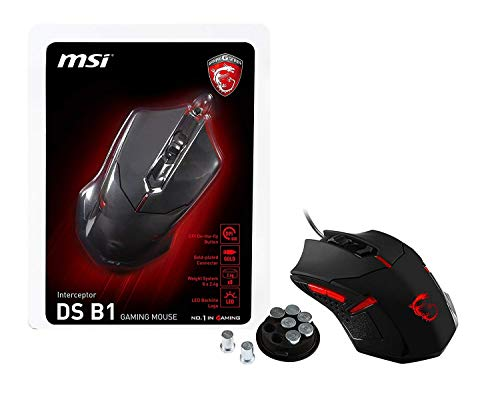 Mouse Gamer Ótico Interceptor DS B1, MSI, Mouses, MSI, Mouses