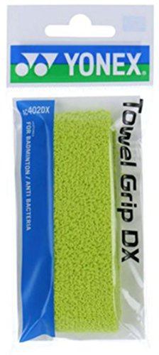Japan Yonex Badminton Towel Grip AC402DX 1.35mm LIME (yac402dxlf) Normal thickness for one Racket