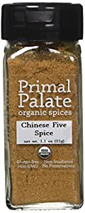 Primal Palate Organic Spices Chinese Five Spice, Certified Organic, 1.1 oz Bottle