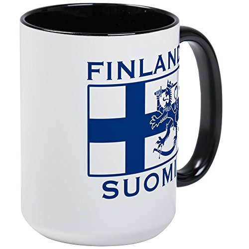 CafePress Finland Suomi Flag Large Mug Coffee Mug, Large 15 oz. White Coffee ()