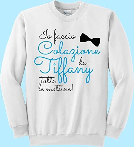 Felpa Io Faccio Colazione Da Tiffany Tutte Le Mattine Audrey