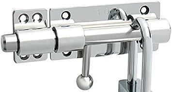 1 Pc 6//8//10 Inch Slide Bolt With Screws Slide Bolt Gate Latch Safety Door Lock