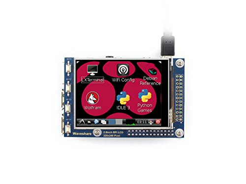صفحه نمایش لمسی مقاوم در برابر با وضوح 320x240 وضوح تصویر Waveshare 2.8inch RPi LCD (A) برای هر نسخه از Raspberry Pi طراحی شده است