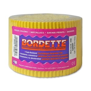 - Scalloped Bordette Decorative Classroom Border Color: Yellow - 2.25