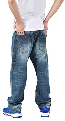 Denim Stile In Da Pantaloni W28 Larghi To E Freemove Hop W44 Jeans Hip 072 Comodo Clubwear Uomo Ballo Battercake t74qg