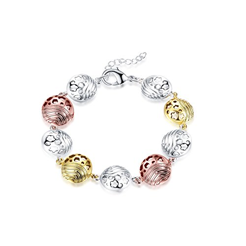 Eye Candy Couture Costumes (iCAREu Gold Plated Colorful Shell Charm Bracelet For Women, Girls, 8