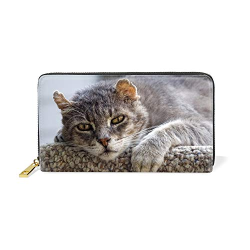 Women Wallets Bifold Ladies Cluth Wildcat Long Purse