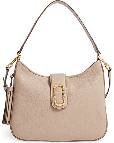 Taupe Marc Interlock Shoulder Bag Medium Jacobs Leather Hobo wpprnP0q6