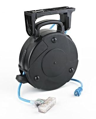 ALERT STAMPING & MFG 8040T-PS Heavy Duty Retractable Cord Reel, Grey
