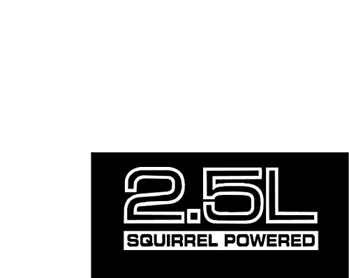 SET OF 2 Jeep Wrangler 2.5 Squirrel Powered Vinyl Stickers Decals YJ TJ 2.5L 4.0 L (matte white)