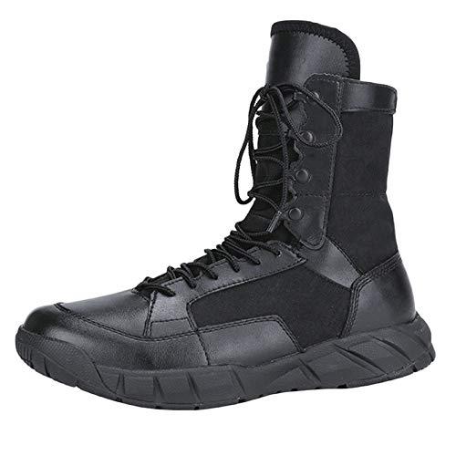 Stivali Tattici Militari Uomo Nero Deserto Leggero E Traspirante Forze Speciali Scarpe da Trekking Alto-Top Black
