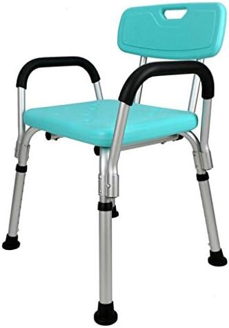Cqq Badestuhl Leichter höhenverstellbarer Duschstuhl - Anwendbar für ältere Menschen, Schwangere und Behinderte
