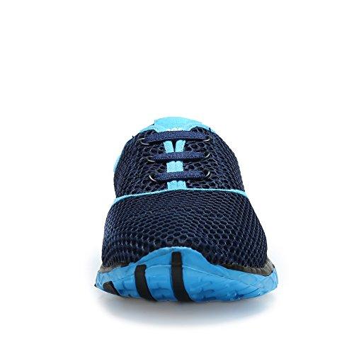 Surfschuhe Schlüpfen Schnell Blau Trocknend Herren Schwimmschuhe Mehrfarbig Ineinander Unisex Damen SAGUARO Breathable Greifen Strandschuhe Wasserdicht Aquaschuhe OBZzqwv
