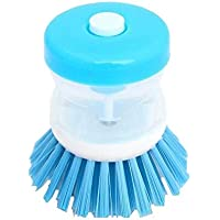Brush for dishes with liquid soap