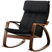 Ikea Poang Rocking Chair Medium Brown with Cushion