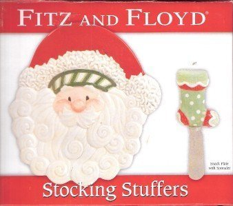 Fitz and Floyd Stocking Stuffers Snack Plate w/Spreader by Fitz and Floyd ()