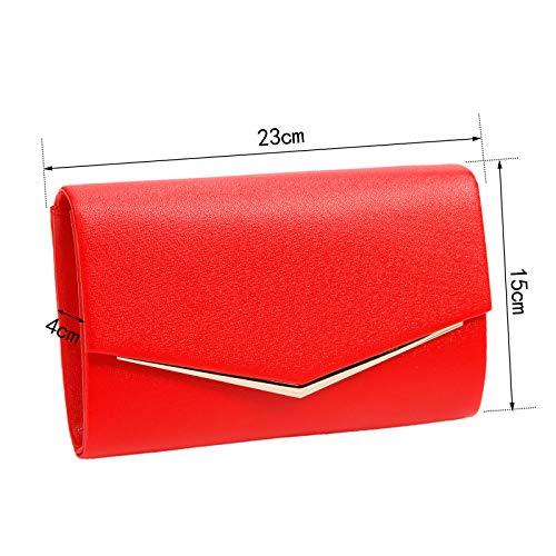 Cm 23 De En 4 Avec Enveloppe Chaînette X Surepromise Soirée Main À Amovible Sac 30 Rouge Pochette Pu 15 SdpxPqwPZ