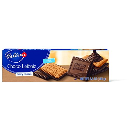 Cake Biscuit Chocolate - Bahlsen Choco Leibniz Milk Cookies (2 boxes) - Leibniz Butter Biscuits topped with a thick layer of European Chocolate - 4.4 oz boxes