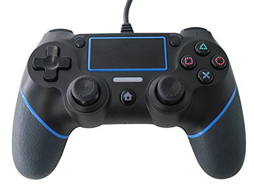 J&TOP Wired Controller for PlayStation 4 & PlayStation 3 & PC Cable Length 7.2ft