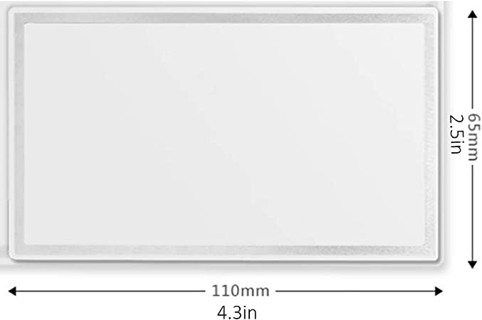 Jixista 2/× Coche Espejos Maquillaje Espejo de cosm/ética para autom/óviles Espejo de tocador Autoadhesivo de Acero Inoxidable Espejo de Maquillaje de Autos port/átiles para Visera y Asiento Trasero