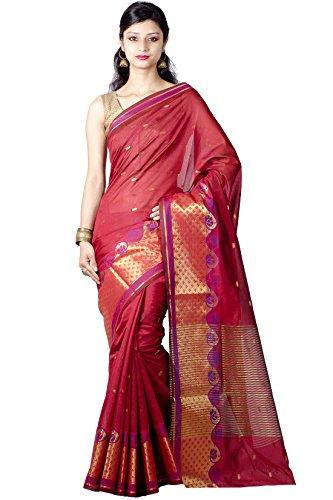 Chandrakala Red Faux Banarasi Silk Saree
