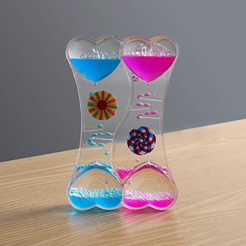 KINGYAO Liquid Motion Bubbler Timer, Liquid Timer Sensory Toy for Kids Autism -