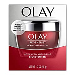 Leading dermatologists and Olay skin scientists have reformulated the no.1 Selling anti-aging moisturizer using skin energizing technology. Regenerist micro-sculpting cream features an advanced formula that penetrates deep into your skin's su...
