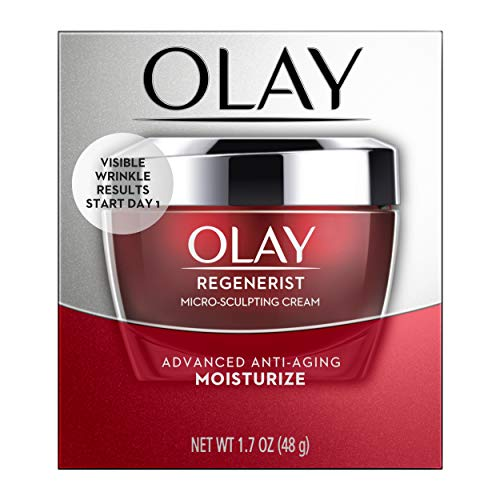 (Face Moisturizer with Collagen Peptides by Olay Regenerist, Micro-Sculpting Cream, 1.7 oz )