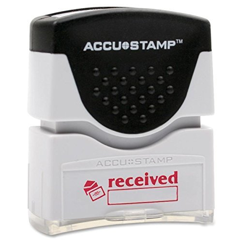 (AbilityOne - Pre-Inked Message Stamp - One-Color Title Stamp Received, Red Ink 7520-01-207-4231)
