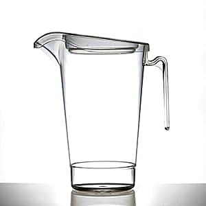 Jarra de plástico 4pinta con tapa, apilable | Pimms jarra | prácticamente irrompible–Calidad Catering Productos–fabricado en el Reino Unido por BBP