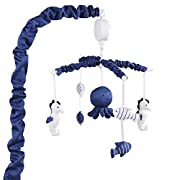 Navy Blue Musical Mobile With Sea Creatures by The Peanut Shell