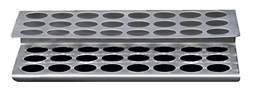 Stainless Steel Test - Black Machine SS100/B Stainless Steel Test Tube Racks, 24 Hole, 267 mm L x 117 mm W x 89 mm H