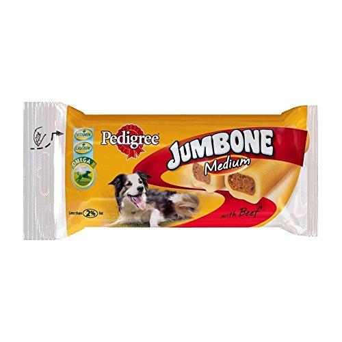 Pedigree Jumbone Medium Dog Treats Beef 2 x 100g (PACK OF 6)