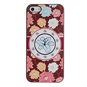ZXSPACE Colorful Chrysanthemums Pattern PC Hard Case with Black Frame for iPhone 5/5S