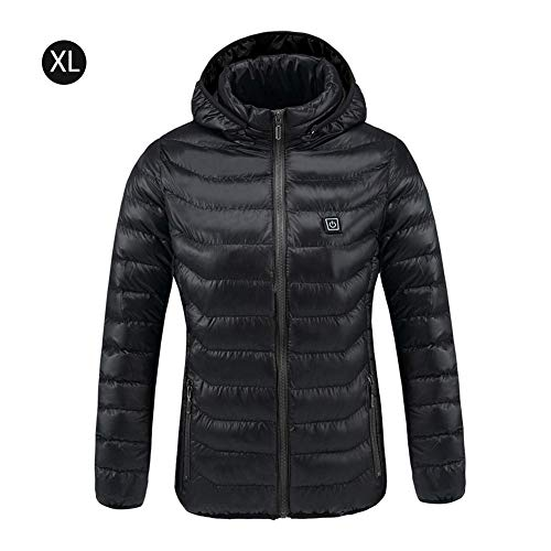 Heitaisi USB Rechargeable Electric Heated Jacket, Temperature Heating Coat for Outdoor Sport Bicycling,Skiing,Motorcycle,Hiking