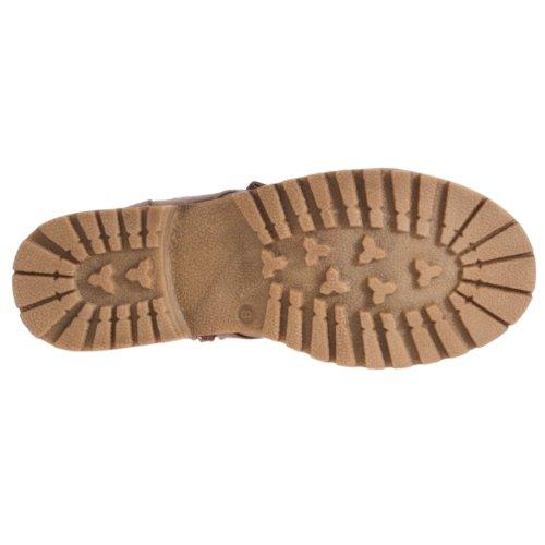 Fashion Login Combat style Boots Womens Taupe Styluxe f80qAA