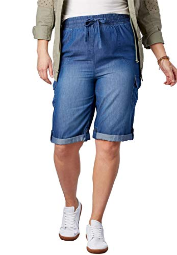 Woman Within Plus Size Convertible Utility Shorts
