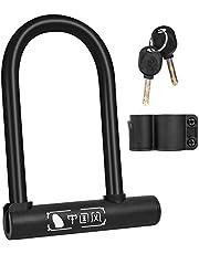 Fiets U-Lock D-slot met 2 sleutels, Heavy Duty High Security Anti-Diefstal U-Lock, PVC waterdicht roestvrij fiets U-vormig slot voor MTB, racefietsen, motorfiets, winkeldeuren - met montagebeugel
