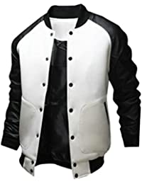 Generic Mens Slim Fit Baseball Jacket Bomber Cotton Premium Jackets