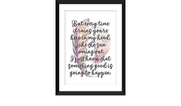 Amazon com: Kate Bush Cloudbusting Lyrics - Unframed Print